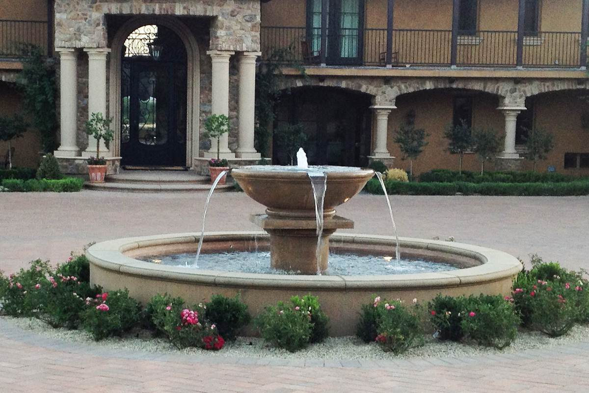 Image of: Awesome Cement Fountains