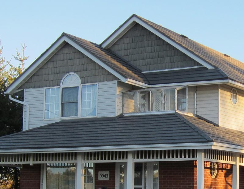 Image of: Awesome Charcoal Gray Metal Roof