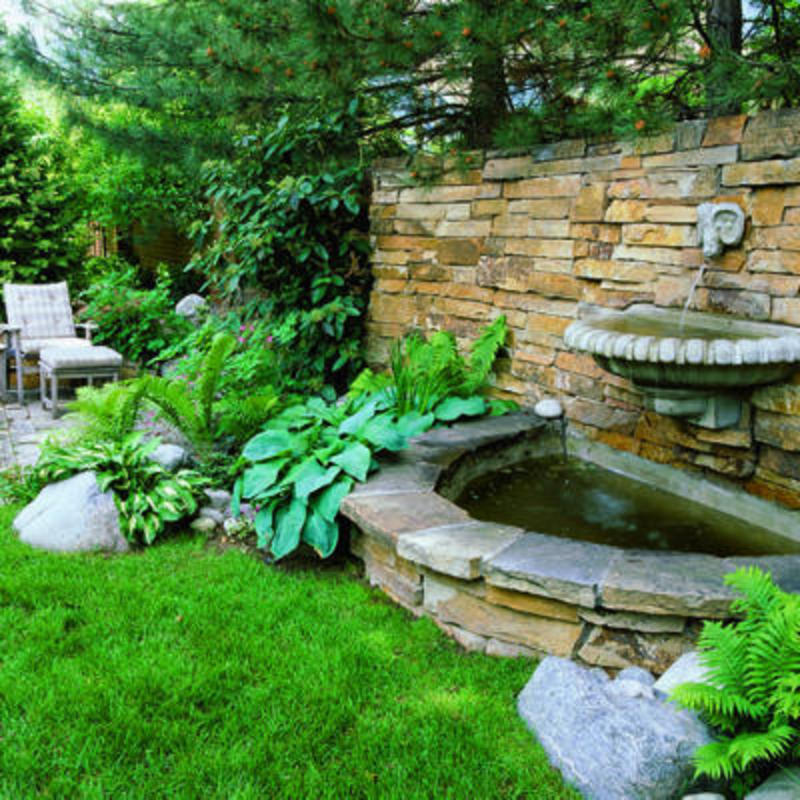 Backyard Fountain Ideas Image