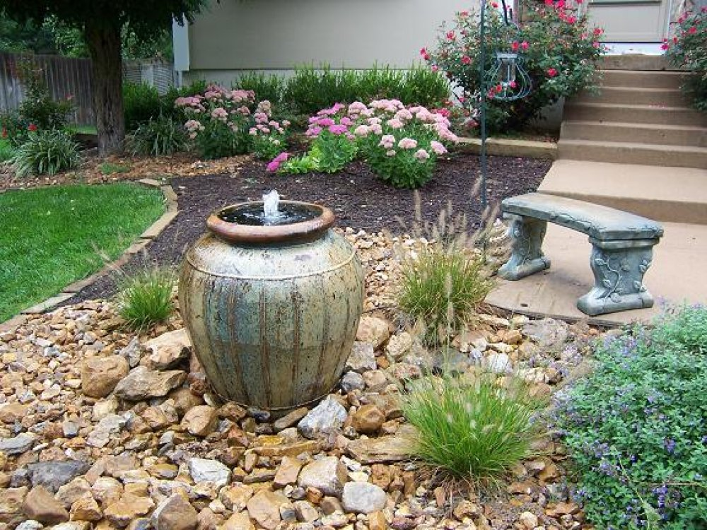 Image of: Backyard Fountain Pictures