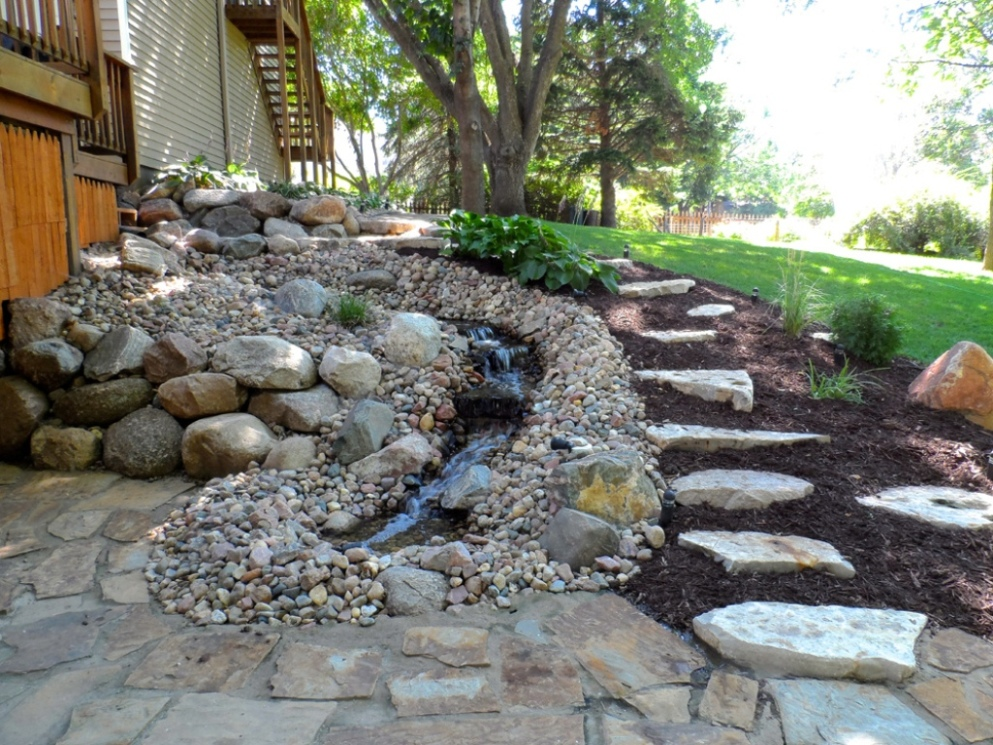 Image of: Backyard Water Fountains Decor