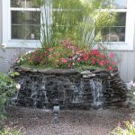 Backyard Water Fountains with Flowers