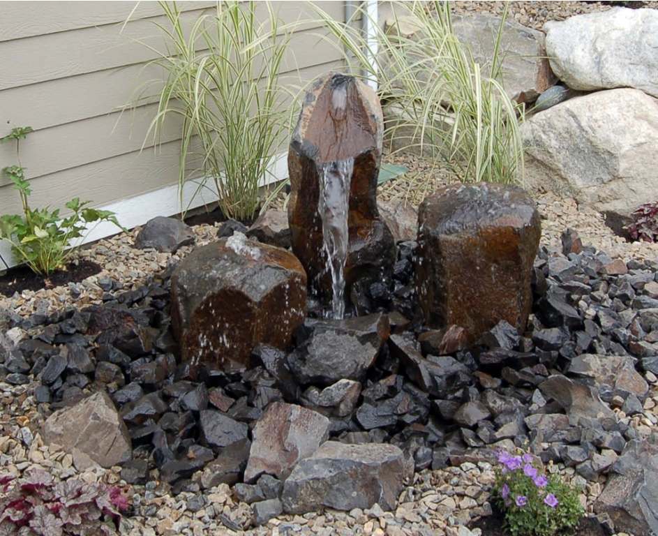 Image of: Backyard Water Fountains