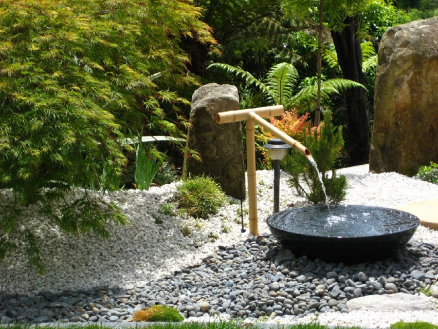 Image of: Bamboo Backyard Drinking Fountain