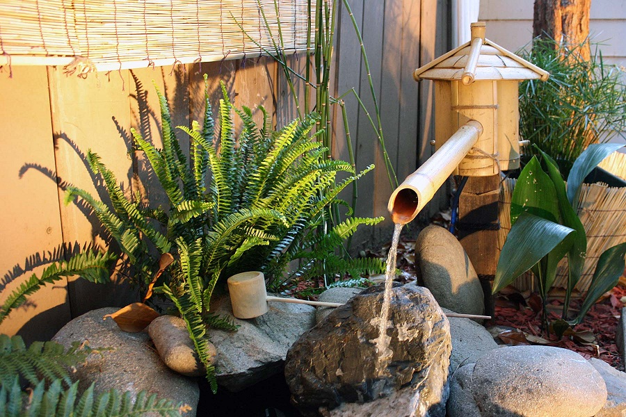 Image of: Bamboo Fountain Japan