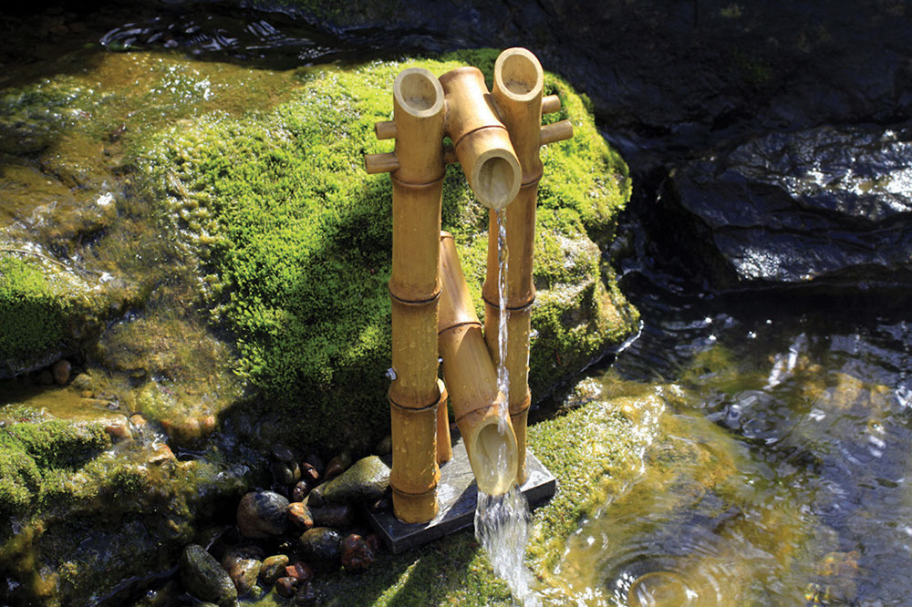 Image of: Bamboo Fountain Water