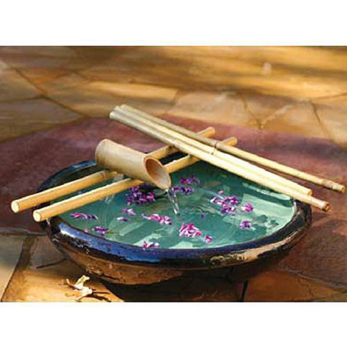 Image of: Bamboo Rocking Fountain Kit