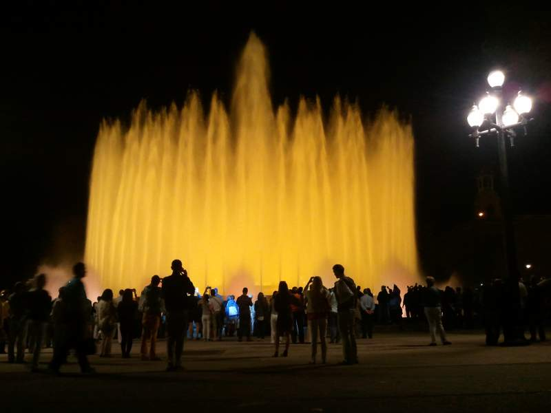 Image of: Barcelona Magic Fountain Map