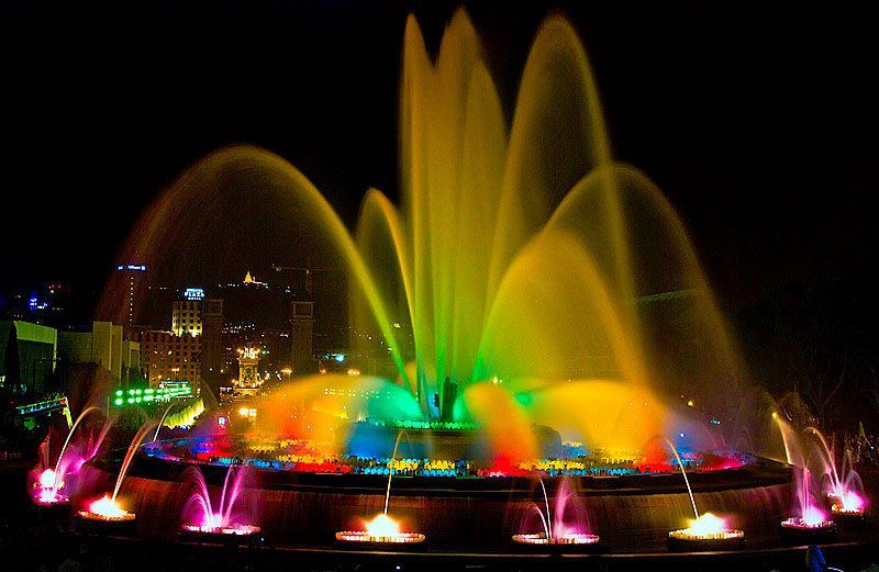 Image of: Barcelona Magic Fountain New Year
