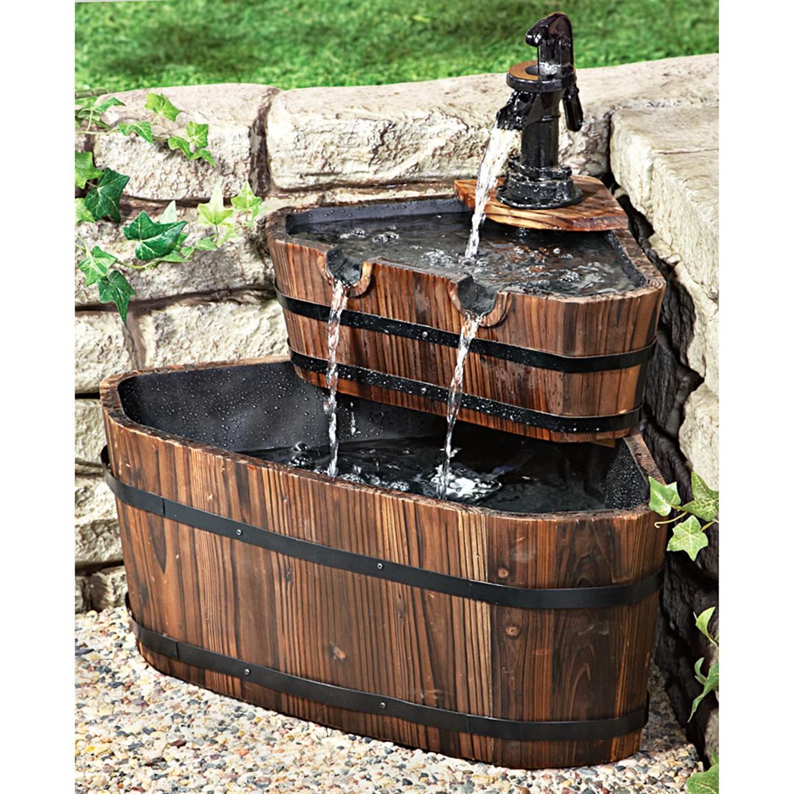 Image of: Barrel Fountain Shapes
