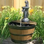 Barrel Fountain Water
