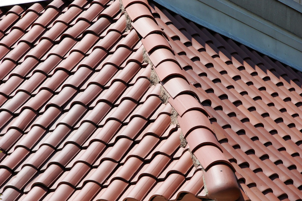 Image of: Barrel Tile Roof Painting