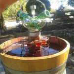 Barrel Water Fountain Outdoor
