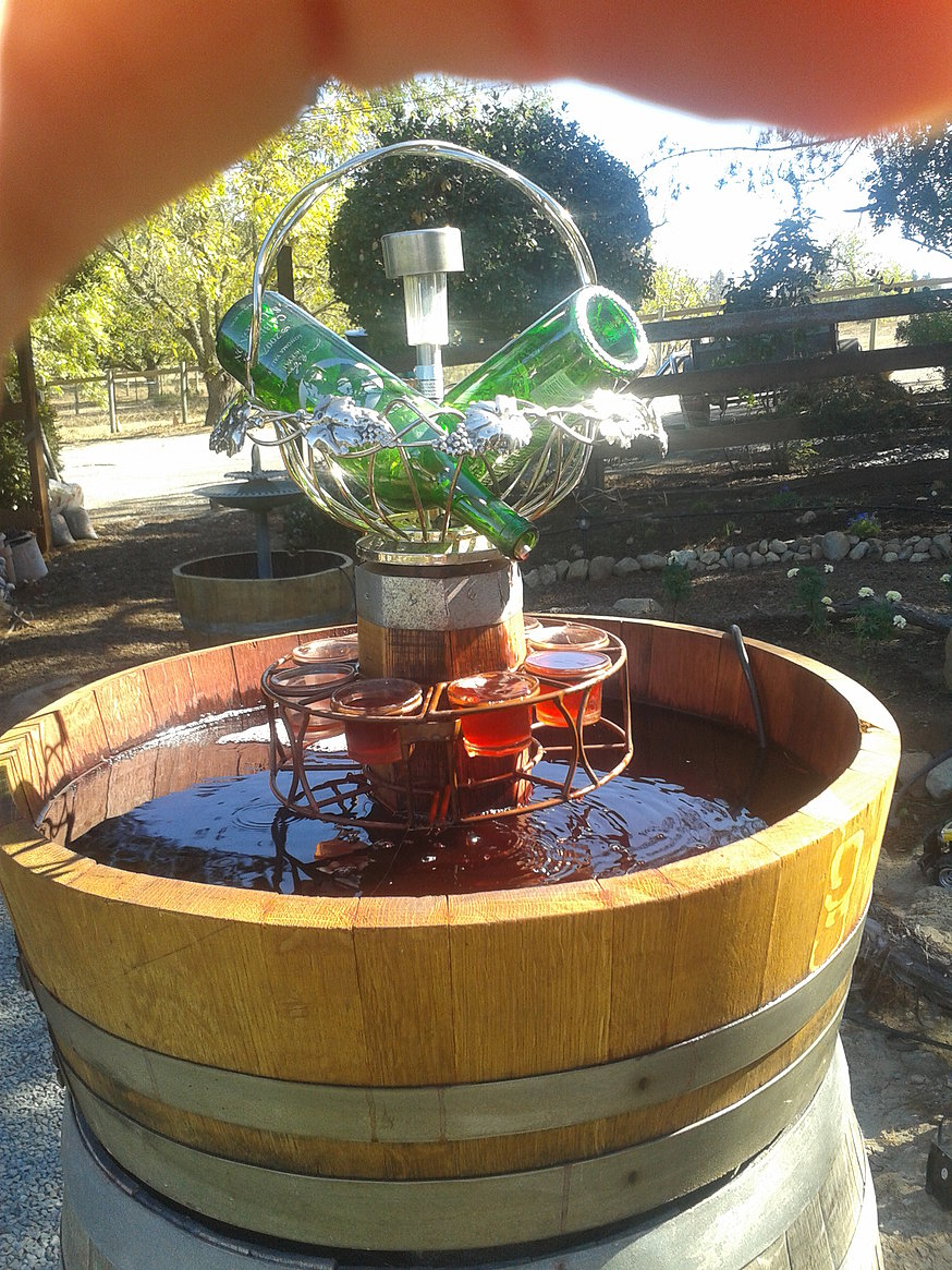 Image of: Barrel Water Fountain Outdoor
