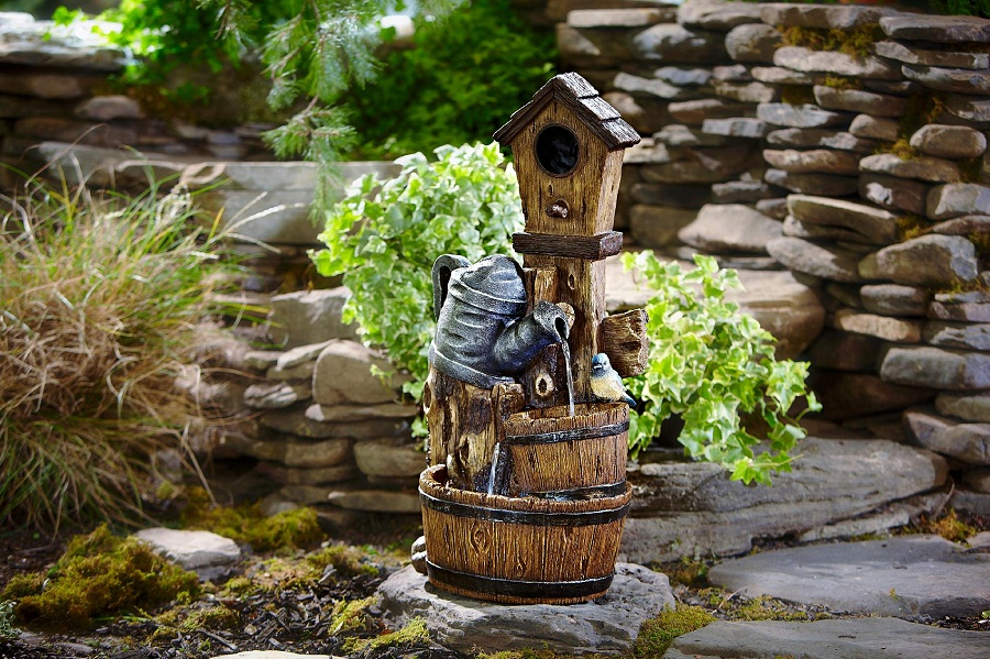 Image of: Barrel Water Fountain Small
