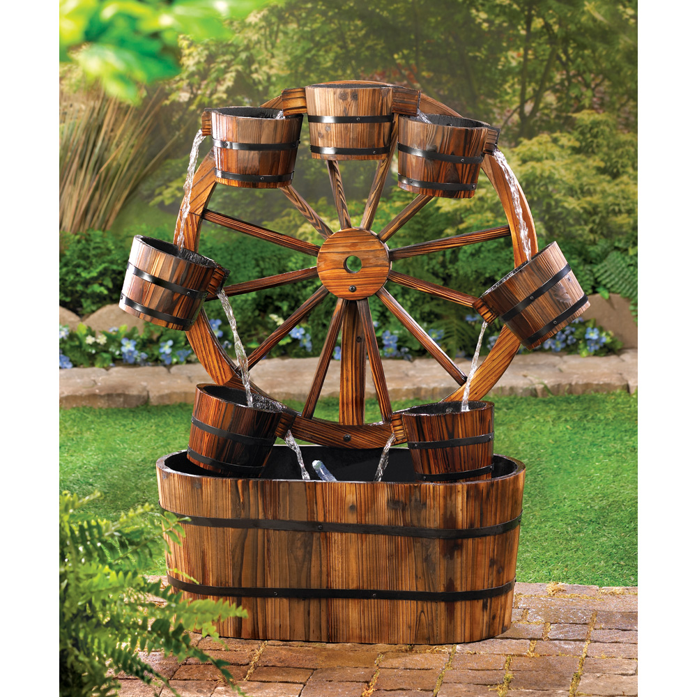 Image of: Barrel Water Fountain Wagon