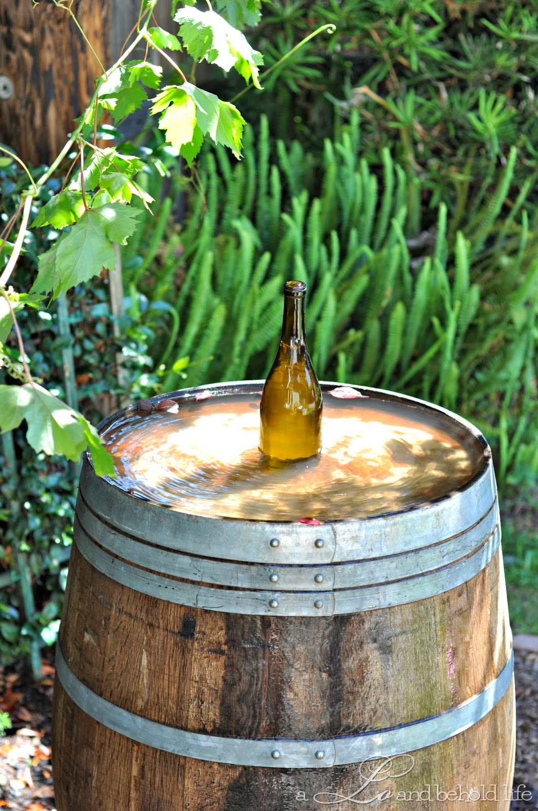 Image of: Barrel Water Fountain