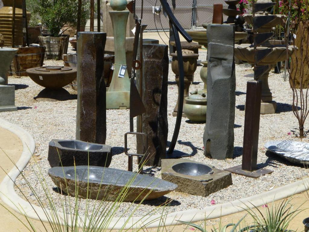 Image of: Basalt Column Fountain Ideas