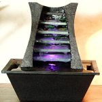 Battery Operated Tabletop Water Fountain With Lights