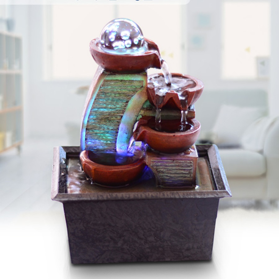 Image of: Battery Operated Water Fountain With Light