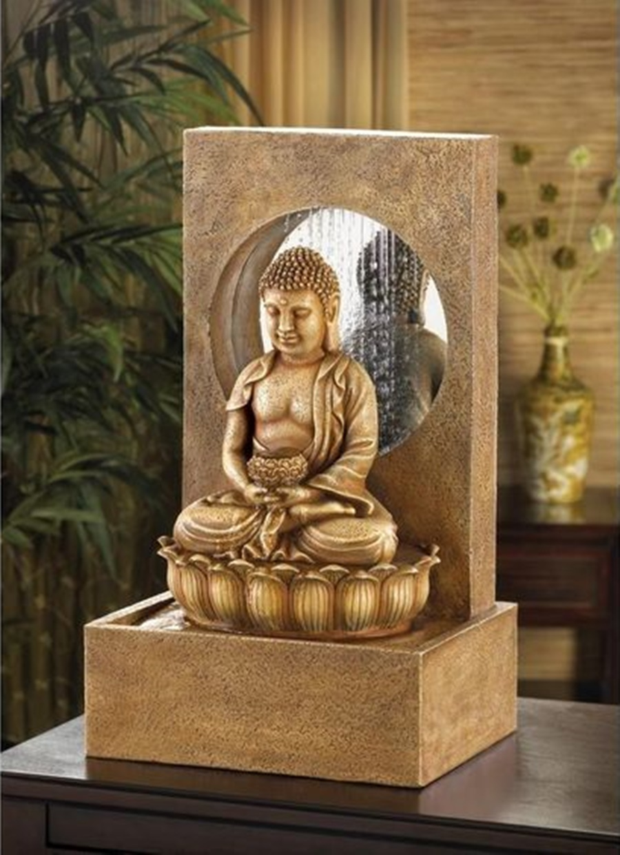 Image of: Beautiful Tabletop Buddha Water Fountain