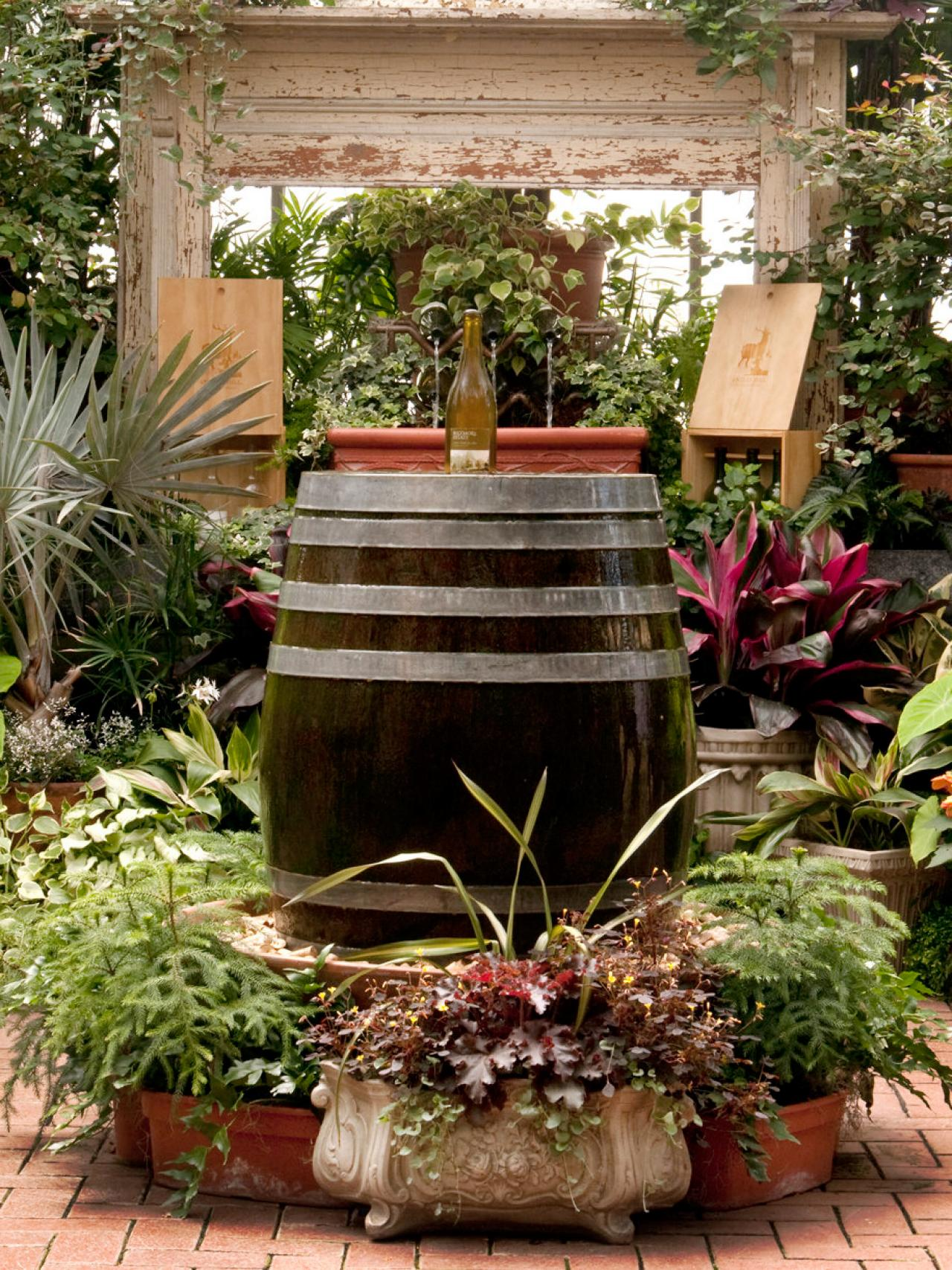 Image of: Beauty Barrel Fountain