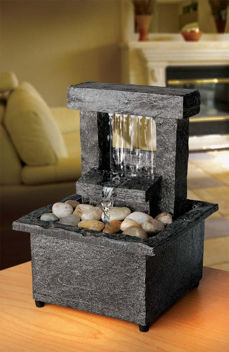 Image of: Best Battery Operated Tabletop Water Fountain