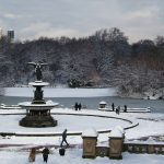 Bethesda Fountain in Winter
