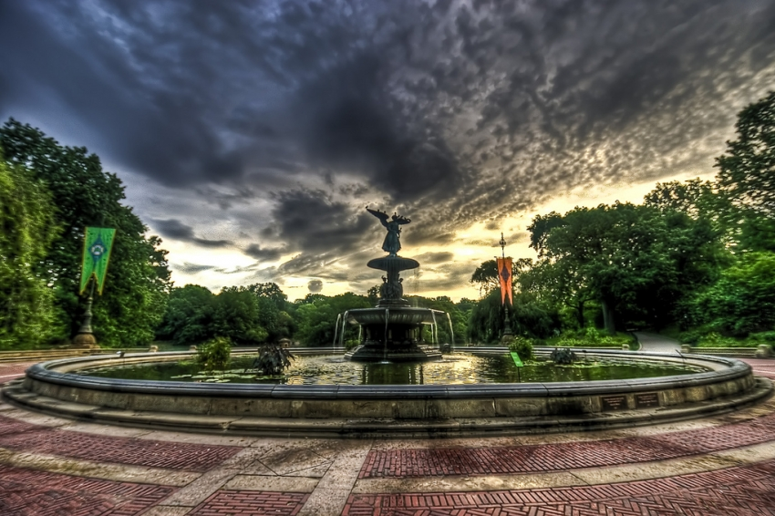 Image of: Big Bethesda Fountain