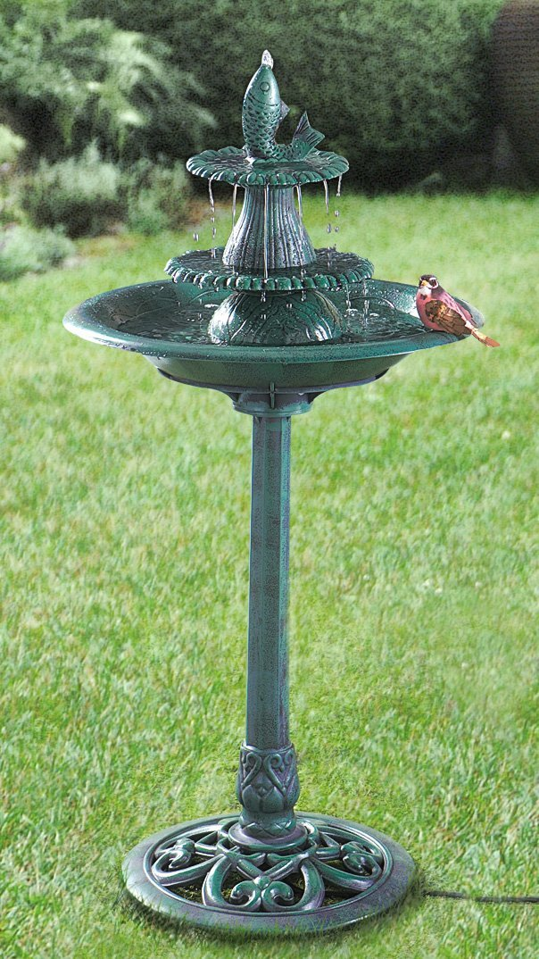 Image of: Bird Bath Fountain Home Depot