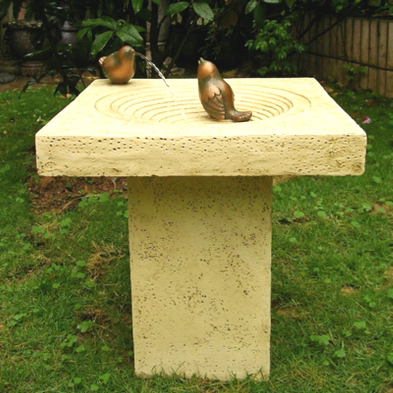 Image of: Bird Bath Fountain Parts