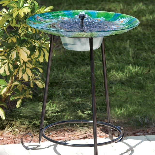 Image of: Bird Bath Fountain Solar