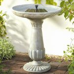 Bird Bath Fountain White