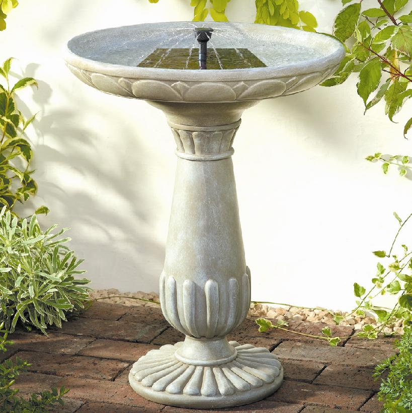 Image of: Bird Bath Fountain White