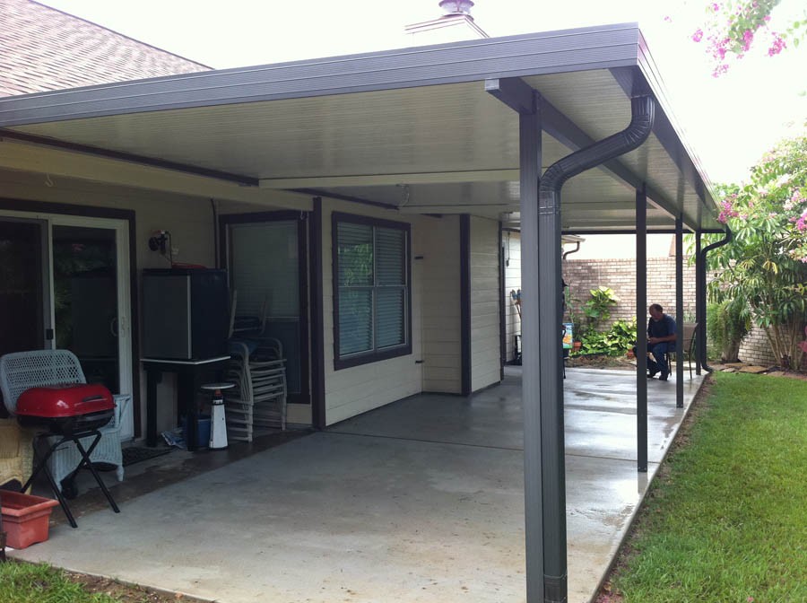 Image of: Black Aluminum Patio Roof