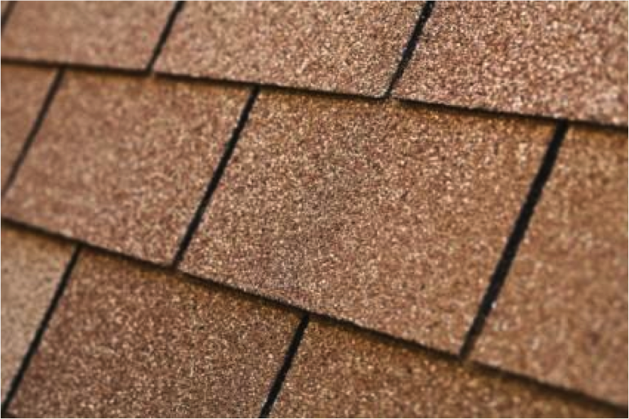 Image of: Brown Asbestos Roof Shingles