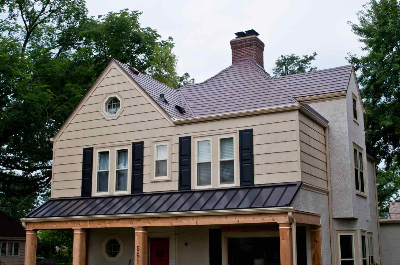 Brown Metal Roof Design Ideas