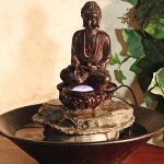 Buddha Battery Operated Tabletop Water Fountain