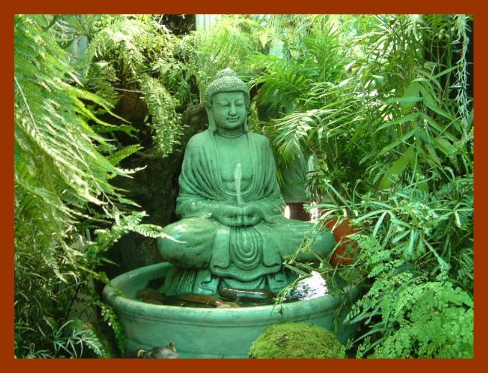 Image of: Buddha Outdoor Solar Fountain
