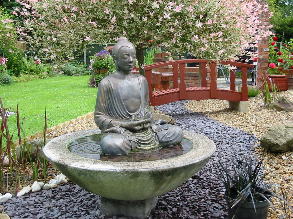 Image of: Buddha Water Fountain Outdoor