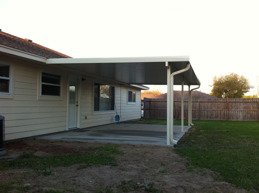 Image of: Build Aluminum Patio Roof