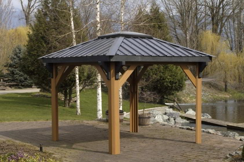 Image of: Build Aluminum Roof Gazebo