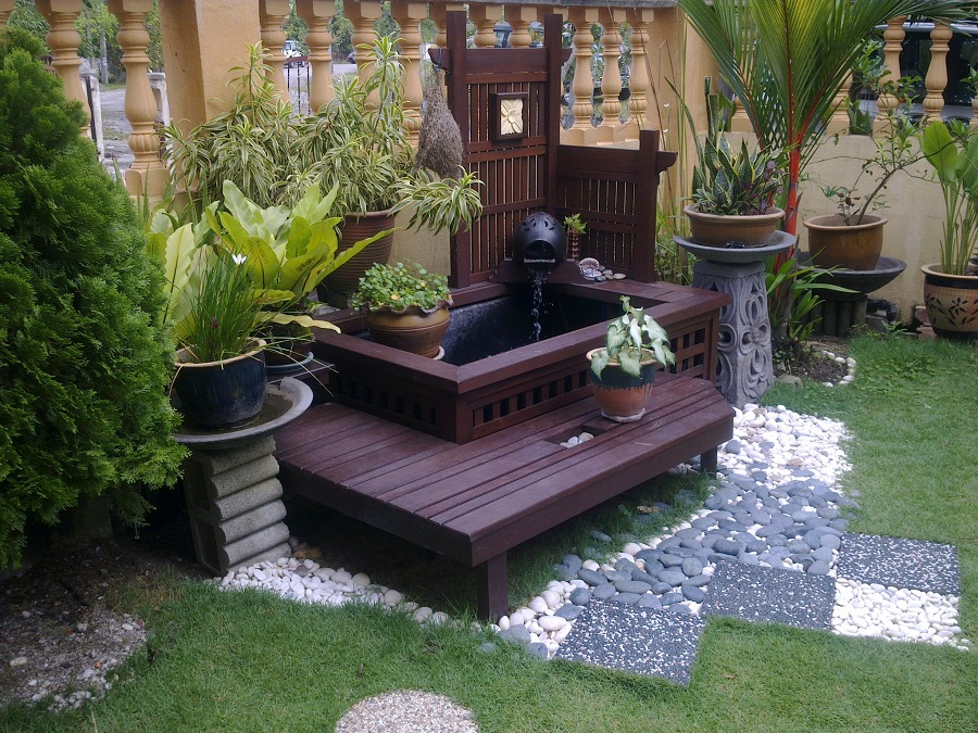 Image of: Build Deck Fountains