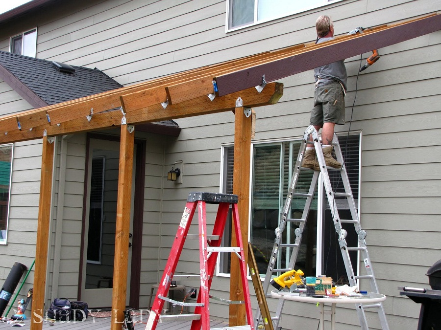 Image of: Building a Roof Over a Deck Project