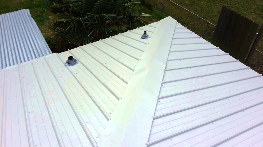 Image of: Cap Roofing Metal