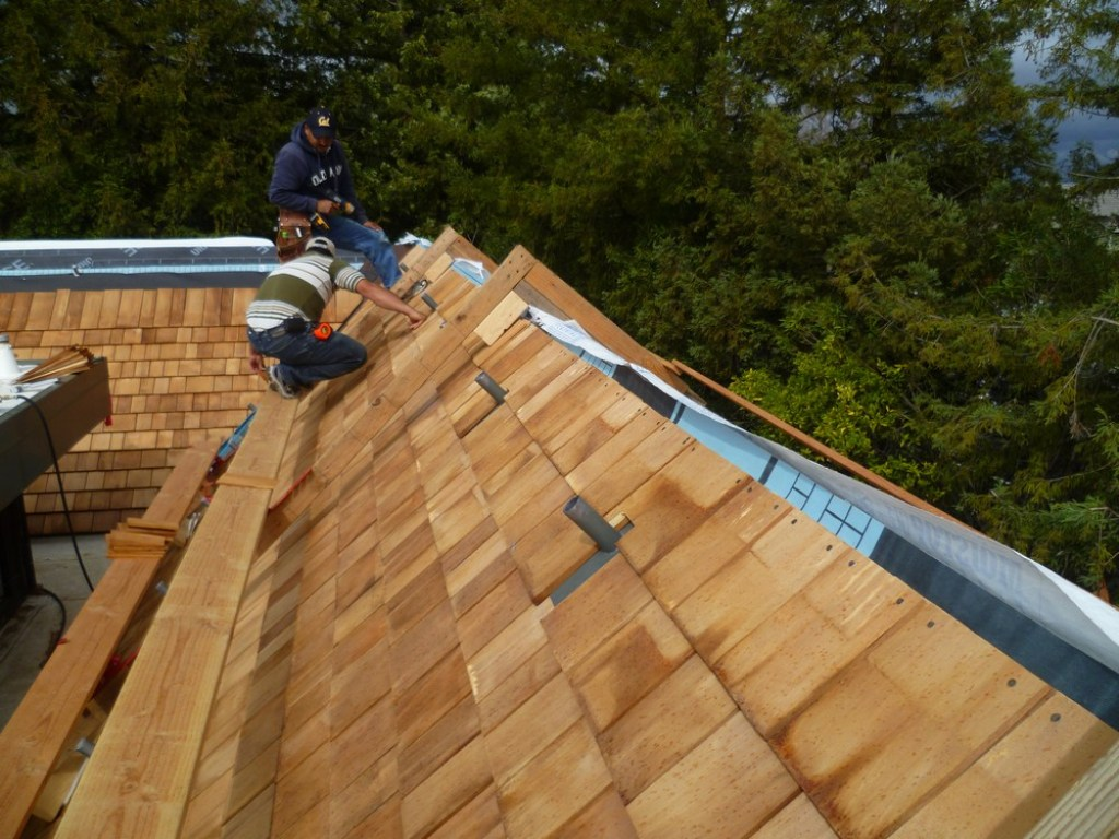 Image of: Cedar Shake Roof Cleaning