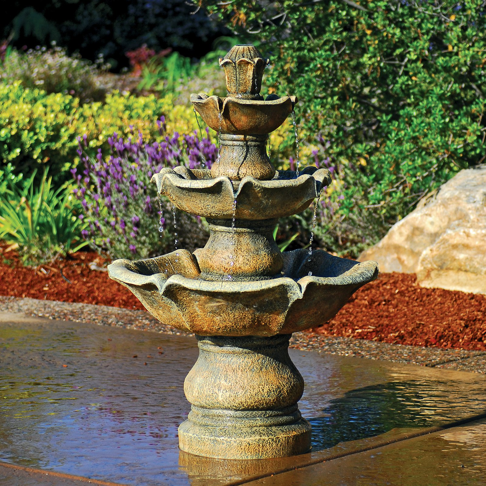 Image of: Cement Fountains Design Ideas