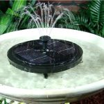Ceramic Bird Bath Fountain Solar