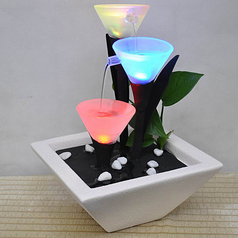 Image of: Ceramic Fountains Led
