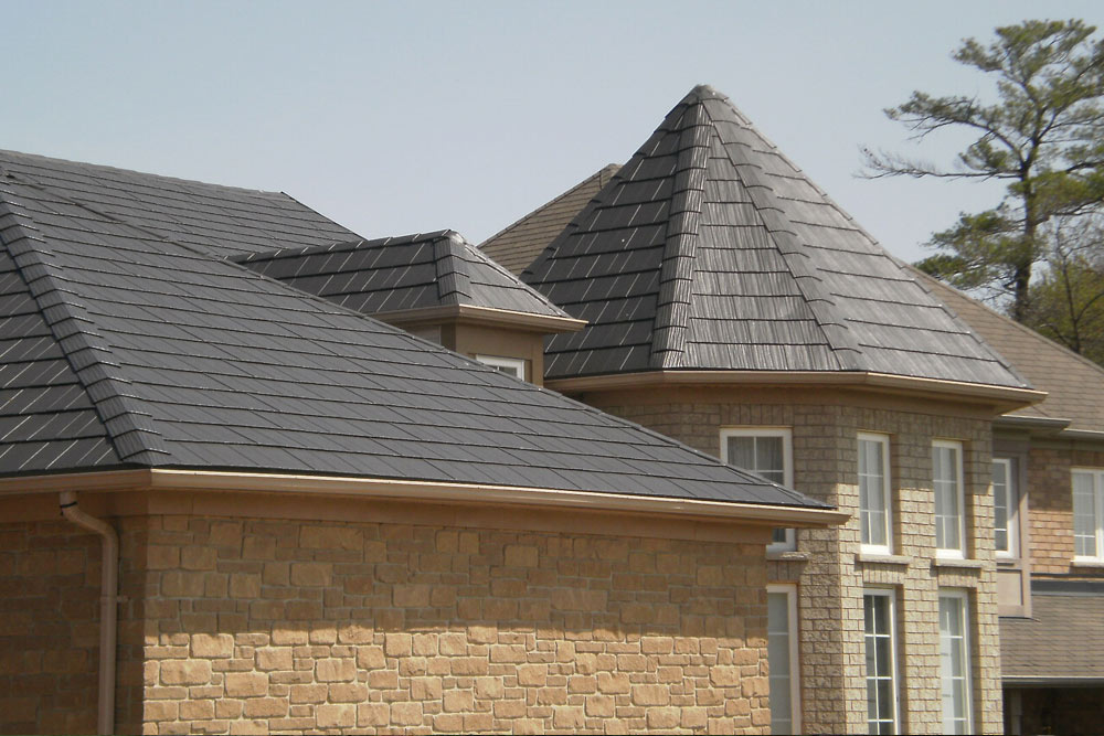 Image of: Charcoal Gray Metal Roof Design Color